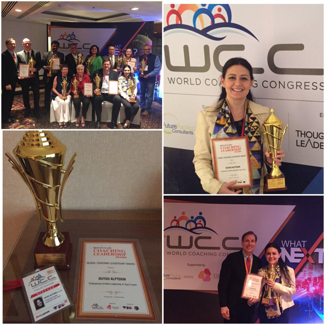 2016 Dünya Koçluk Kongresi Global Liderlik Koçluğu Ödülü Mumbai, Hindistan